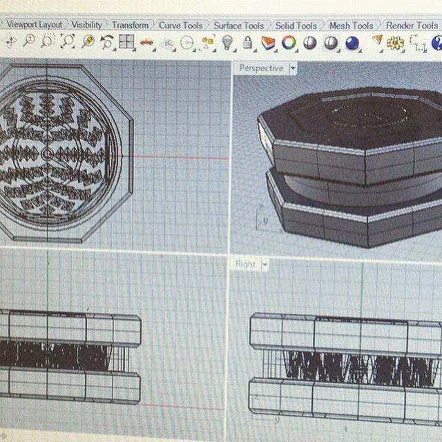 3D modeling the morsi concrete and copper grinder.