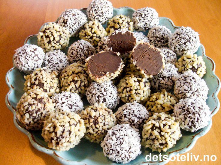 """""""Chocomagic"""" er lekker sjokoladekonfekt, som er lett å lage. Nydelig tilbehør til en god kopp kaffe!"""