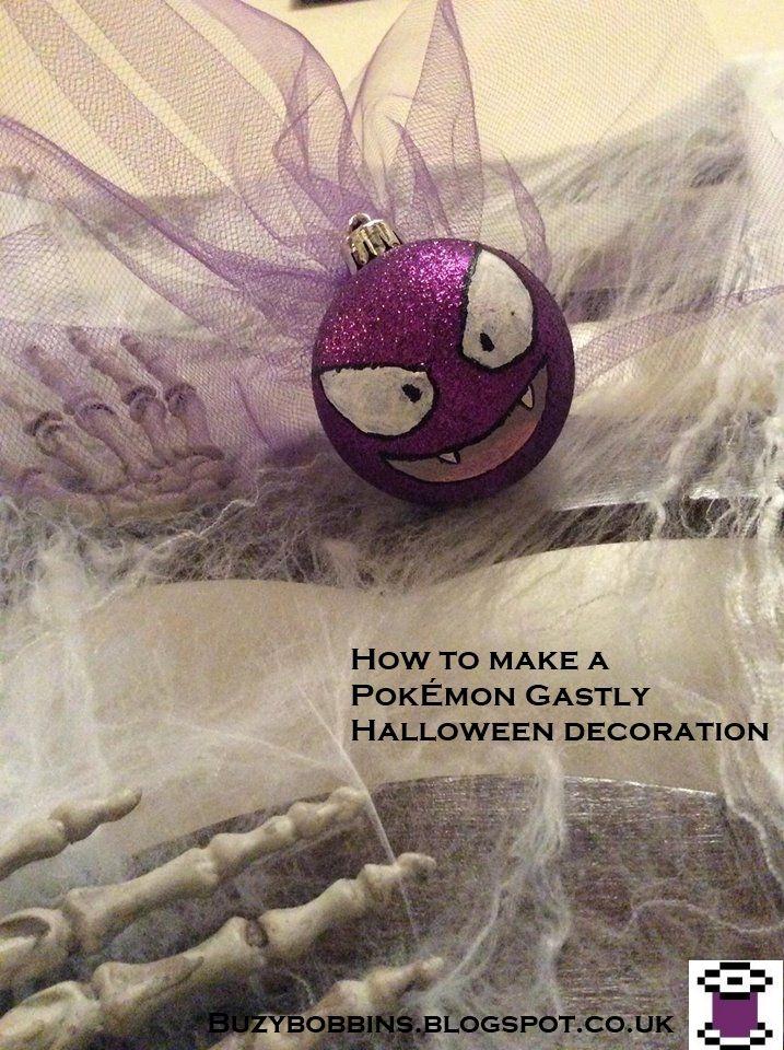Buzy Bobbins: How to make a Pokemon Gastly Halloween decoration