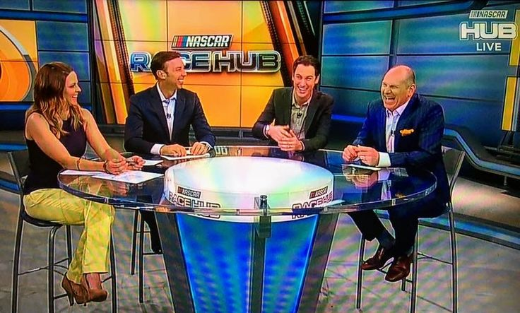 Shannon Spake, Chad Knaus, Joey Logano and Alan Alexander
