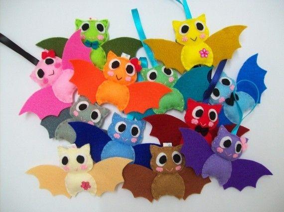 Cute Halloween Ornament/Keyring/Plush/Brooch  Bat  by araleling, $5.00