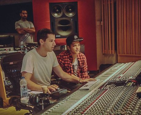 Mark Ronson hits the studio with Bruno Mars who is set to feature on new single 'Uptown Funk'  The track will be available to download from January just ahead of Ronson's brand new album 'Uptown Special'.