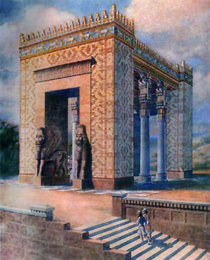 Gate of Nations at Persepolis (artist representation ...