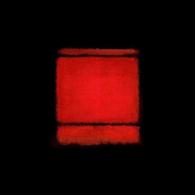 Rothko 1961 Painting  Black and Red, With Red Being in the Center of Things......