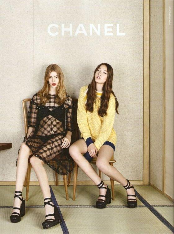 Kampania Chanel wiosna-lato 2013, fot. Karl Lagerfeld, skan TFS