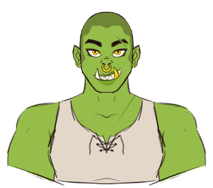 """murdockart: """"My friend is working on a homebrew campaign with me and a couple of her friends, so of COURSE I made an orc. Her name is """"Killer"""" Kildred Strongarm, she's a neutral good fighter who..."""