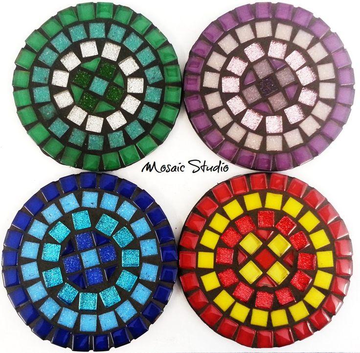 Mosaic Round Coasters - Kit-Set by MosaicStudio1 on Etsy