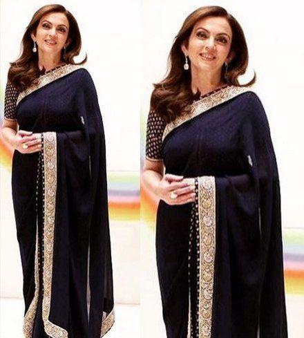 Nita Ambani in designer saree