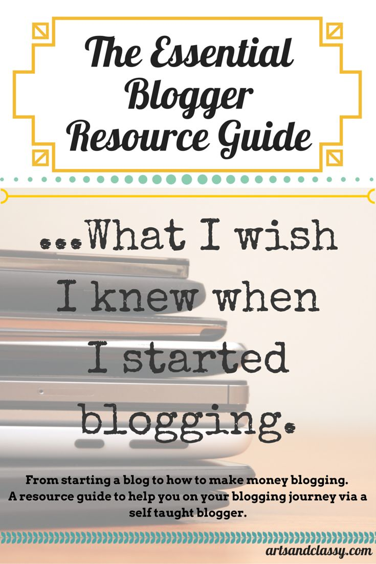How to Start a Blog or Take your Blog to the Next Level - A Resource Guide to Launching a Succesful Blog and Business! If you aspire to work from home or make a more lucrative side income, check out this amazing resource guide via www.artsandclassy.com