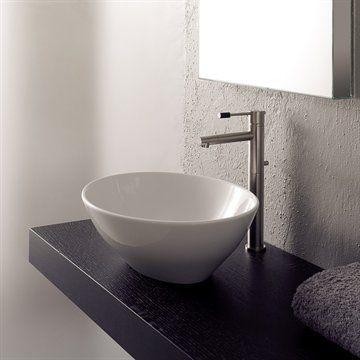 Håndvask OVU i porcelæn 41x34x14