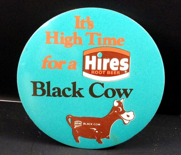Hires Root Beer Black Cow 3 Inch Round Pin It's High Time  #HiresRootBeer