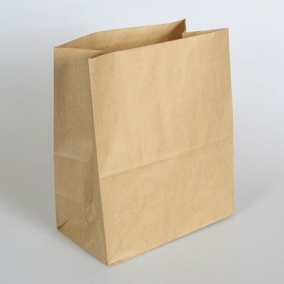 255mm × 120mm + 330mm | Brown Kraft Paper Checkout Bag - Wholesale and Retail | Suppliers of Paper and Plastic Food Service Baking Party Products | Online Sydney NSW Australia