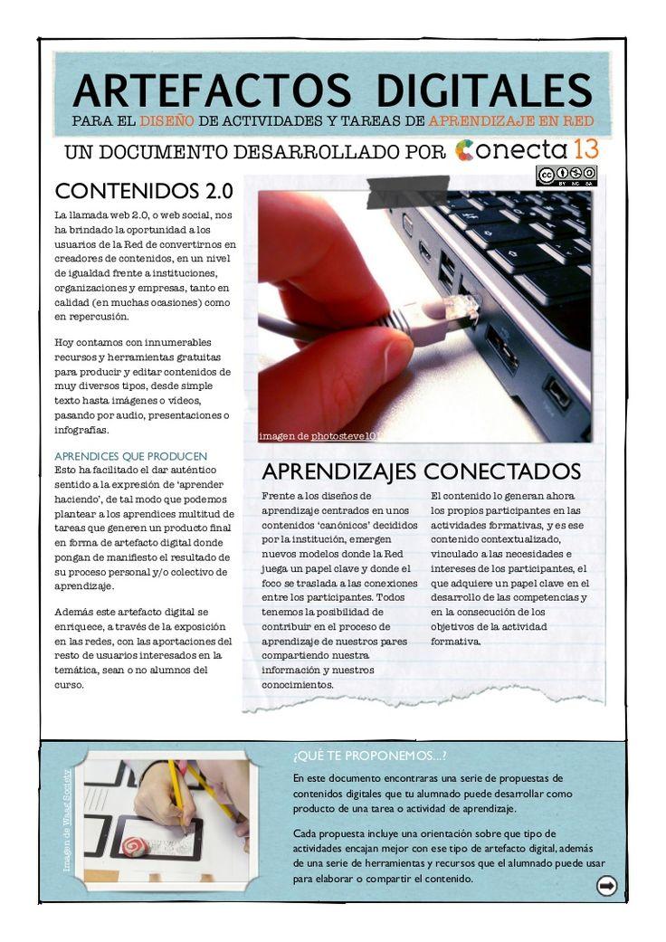 artefactos-digitales-para-el-diseo-de-actividades-y-tareas-de-aprendizaje by Conecta13 via Slideshare