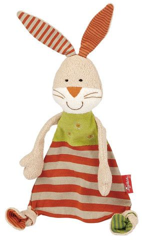 Sigikid Comforter Organic Collection Bunny Snuggly £18.80 This soft and cuddly bunny made of 100% organic cotton is ideal for baby's first attempts at grabbing things, velvety soft for snuggling and offers comfort when baby needs it.