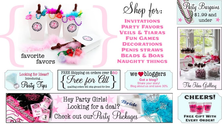 """if you need """"naughty"""" things for a bachelorette party, this is the site! I am totally totally blushing!"""