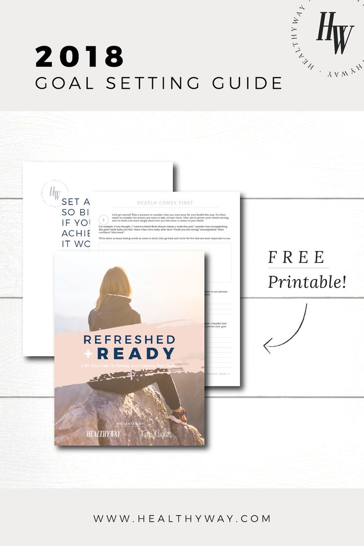 Refreshed + Ready Goal Setting Guide — The 30-Day Guide to Setting and Crushing Your Goals in 2018