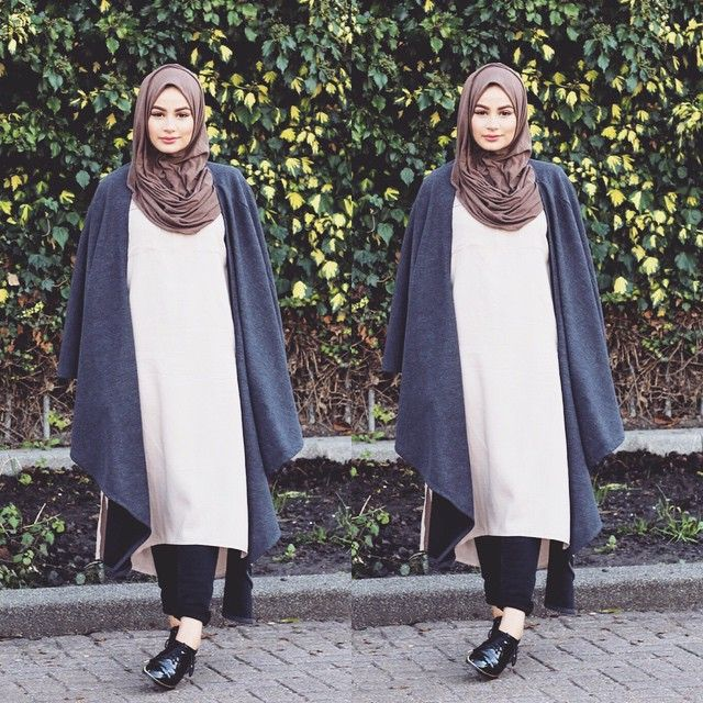Outfit deets : Stone basic Tunic, Knitted Wrap and Brown Knitted hijab all from @inayahc - Trousers @yoinscollection and shoes are from @hm