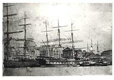 West Circular Quay in Sydney in 1875.