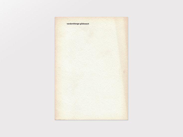 Display | Hochschule für Gestaltung Ulm Catalog Vordemberge-Gildewart | Collection