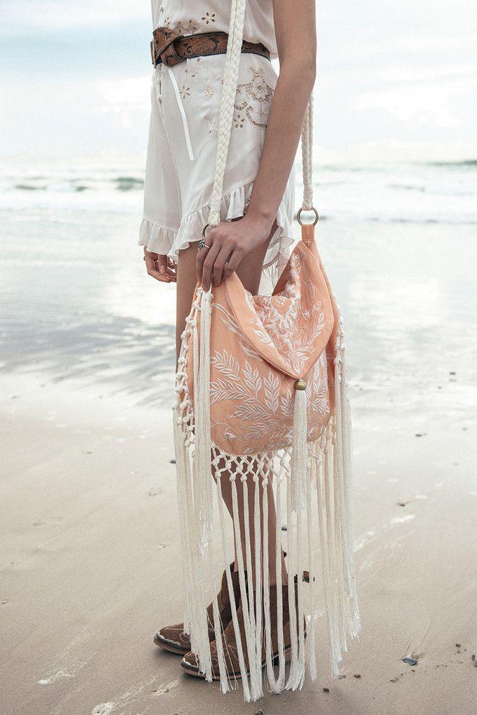 Spell Aloha Fox Embroidered Bag