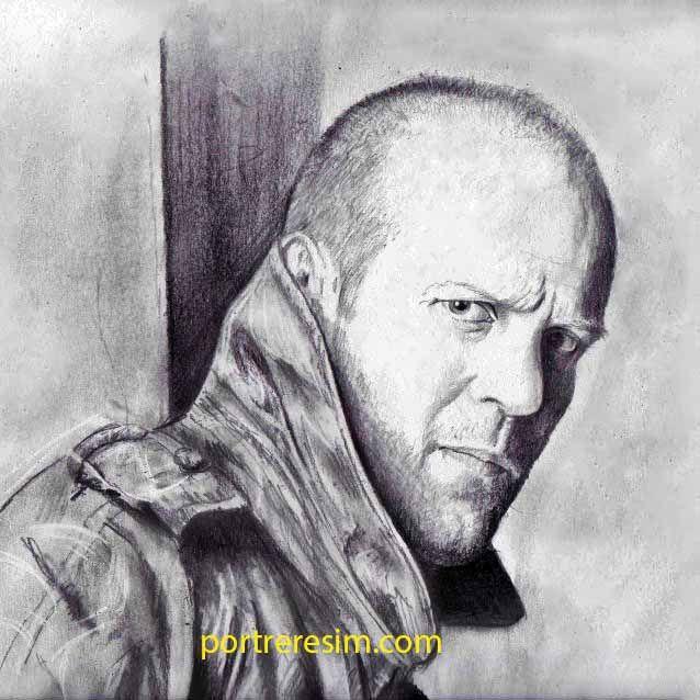 Jason Statham Portre Karakalem Resim