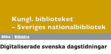 Sök i digitaliserade gamla svenska dagstidningar