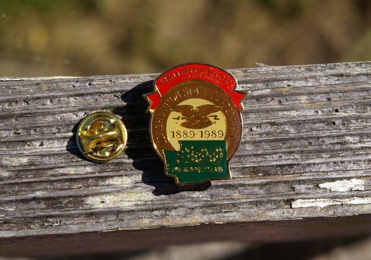 Budweiser Salutes Washington State Centennial 1889 - 1989 Bud Beer Pin Pinback  | eBay