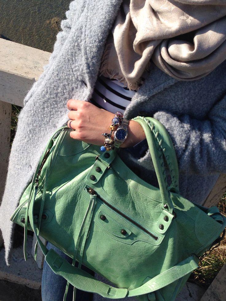 Balenciaga vert d'eau #balenciaga # bag