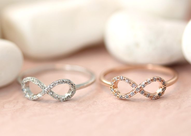 1piece Infinity Ring Crystal Best Friend Forever Infinite Love Ring Jewelry Rose Gold Silver gift idea by authfashion on Etsy https://www.etsy.com/listing/179821244/1piece-infinity-ring-crystal-best-friend