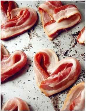Bacon hearts - yum!