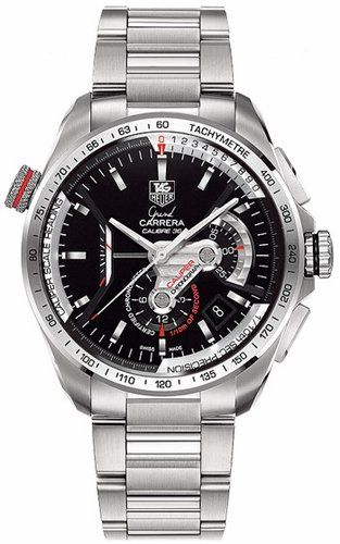 24% Off was $9,500.00, now is $7,195.00! TAG Heuer Men's CAV5115.BA0902 Grand Carrera Automatic Chronograph Black Dial Watch