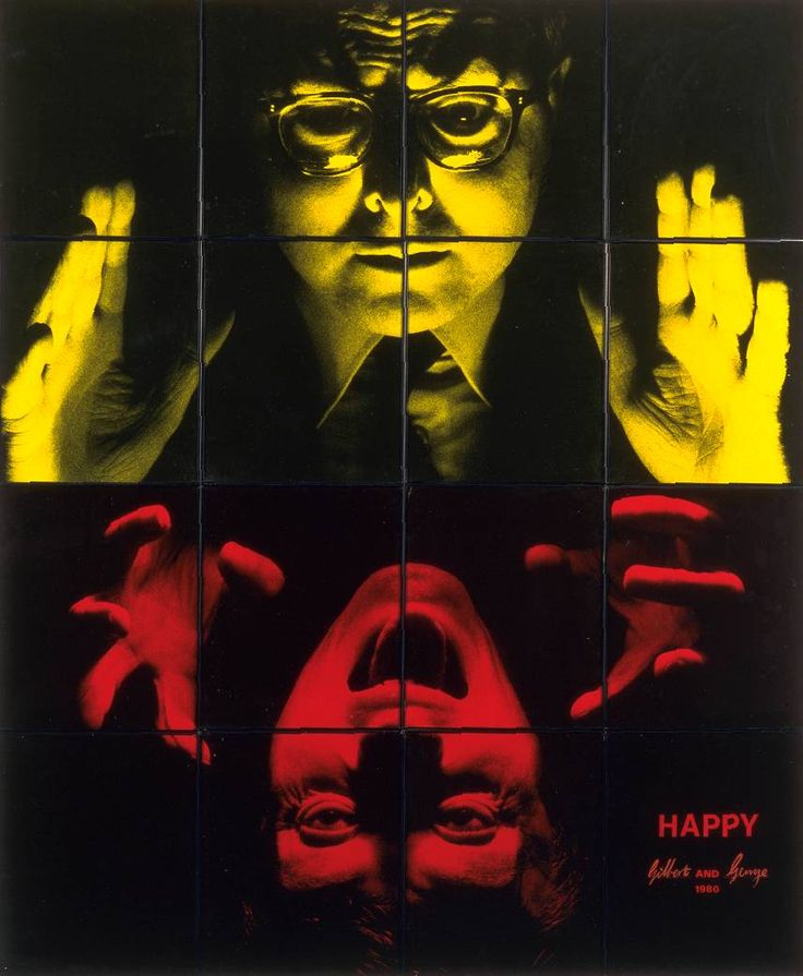 Gilbert & George :: Happy, 1980 [Gilbert Proesch and George Passmore]
