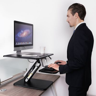 loctek m3m height adjustable sit stand desk riser foldable laptop desk holder stand