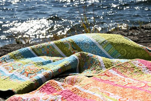 California Dreamin' - Jenean Morrison quilt made by film in the fridge.