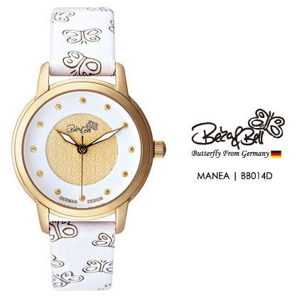 MANEA BB014D    Meterail:316L Stainless Steel    Movement: MIYOTA 2035    Case Size: 30mm    Band Size: 14mm    Band: Butterfly Engraved Genuine Leather    Glass: Hardened Mineral Crystal    Water Resistance : 3 ATM