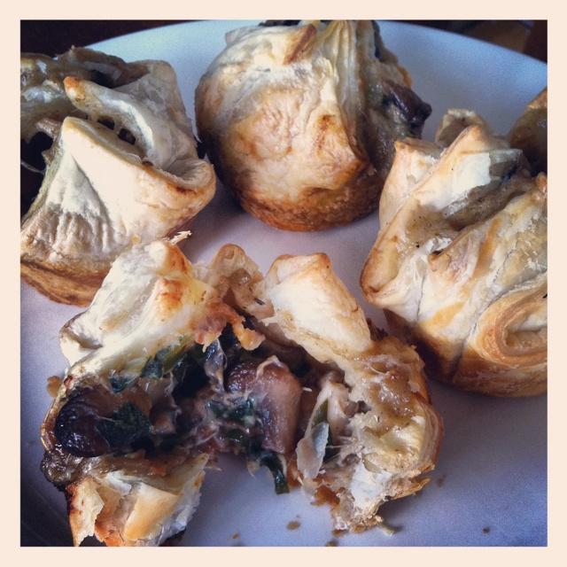 Rustic chicken & mushroom pies.