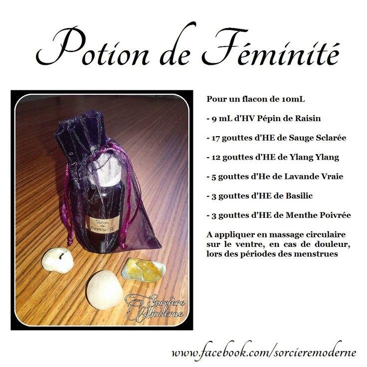 Recette de Potion : Huile de Féminité