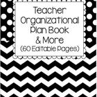 This is an EDITABLE teacher organizational plan book and more. This 111 Page packet contains the following:  8 Editable Cover Pages  42 COVER PAGES...