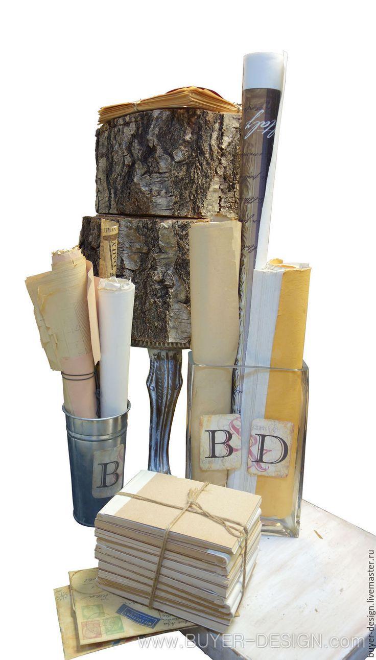 Купить БУМАЖНЫЙ ДЕКОР - бесплатно, Декор, для дизайна интерьера, комбинированный, состаренный, винтажный, авторский, эксклюзивный