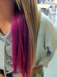 brown hair with pink underlayer - Google Search