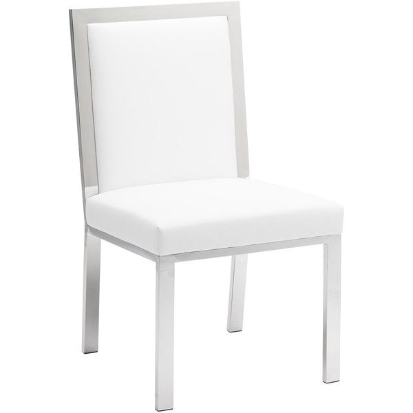 Nuevo Rennes White Dining Chair ($451) ❤ Liked On Polyvore Featuring Home,  Furniture