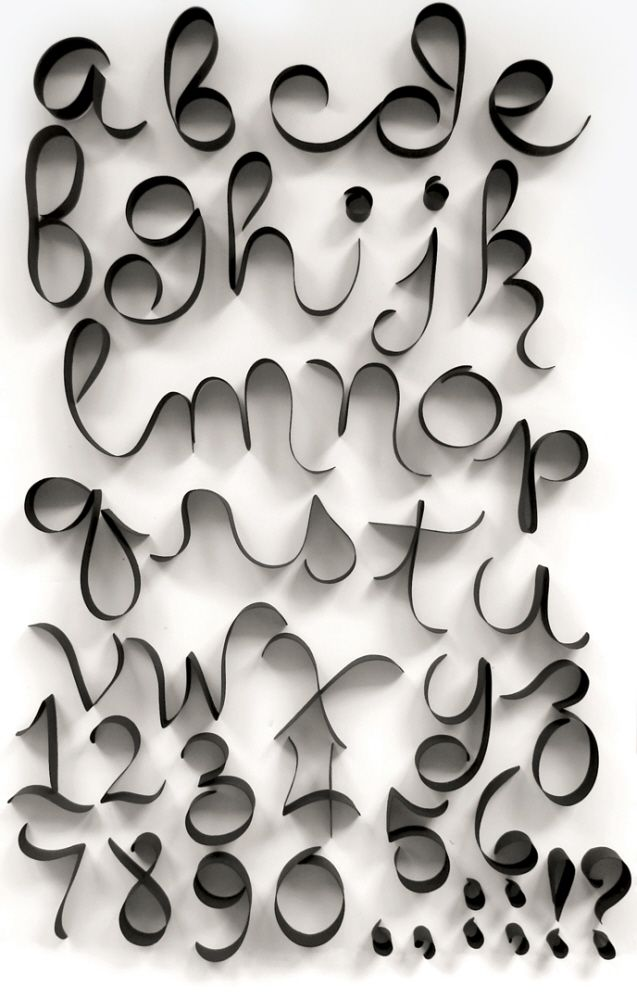 alphabet by paper