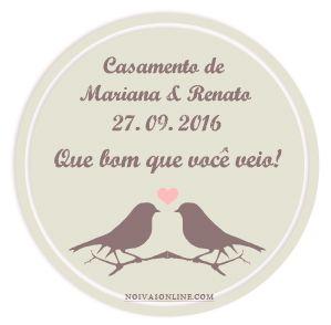 Tags gratuitas para lembrancinhas de casamento