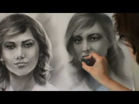 5 урок(2)Нарисовать портрет Сухой кистью