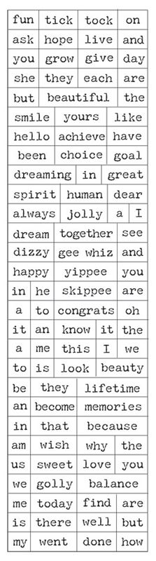 Creative Imaginations - Loolah Collection - Artist Trading Cards - Paintable Cardstock Stickers - Words