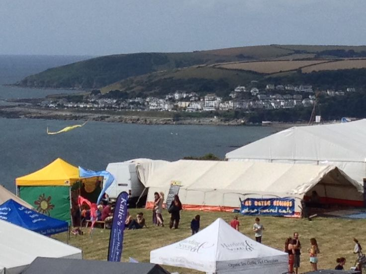 Roots and Blues festival Looe 8th-11th August overlooking Looe Bay