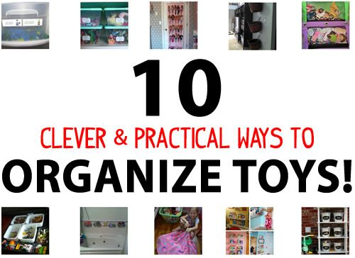 Clever and practical ways to organize toys. Check out these 10 toy mess solutions that won't cost you an arm and a leg and actually make sense!