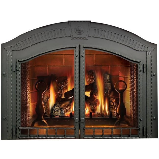 Napoleon H335wi High Country Arched Fireplace Double Doors Wrought Iron Bbqguys Fireplace Doors Country Fireplace Fireplace