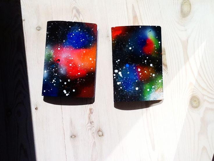 DIY Galaxy notebooks