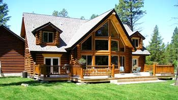 Me and my Dad used to talk about building a log cabin home... That was back when I was never getting married and was going to stay with him forever.